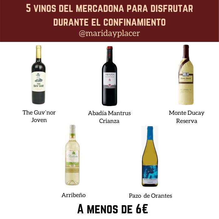 5 vinos del mercadona