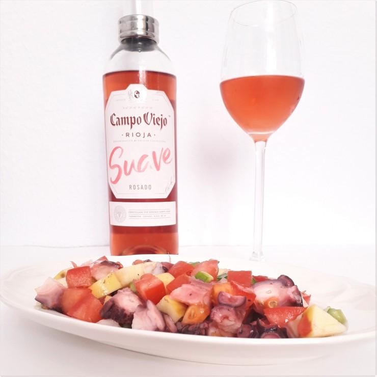 Maridaje de vino rosado y salpicón